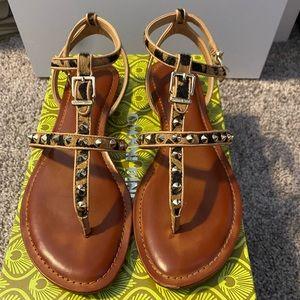 Gianni Bini studded animal print sandal